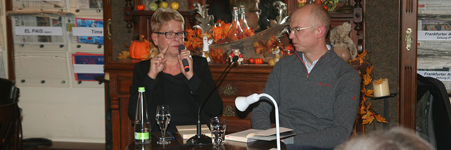 Lesung mit Viktor Funk im Nürnberger Zeitungs-Café Hermann Kesten